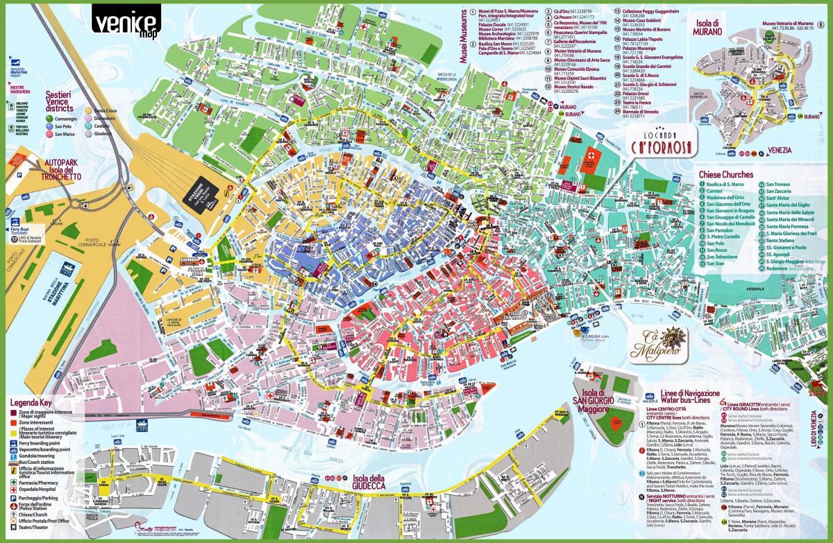 Venetsian Yhden Paivan Kartta Kartta Venetsia Paivassa Italia