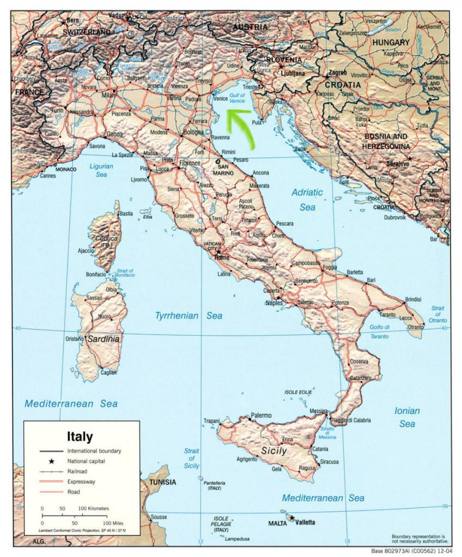 Venezia Italia Kartta Kartta Venetsia Italia Italia